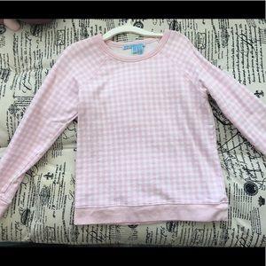 Draper James S pink white sweater